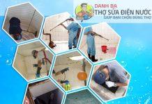 thợ vệ sinh bồn nước