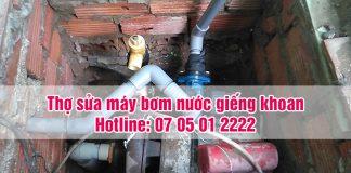 Thợ sửa máy bơm nước giếng khoan