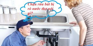 cách xử lý bồn rửa bát bị rò nước hiệu quả