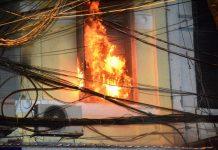 Chập điện cháy nhà